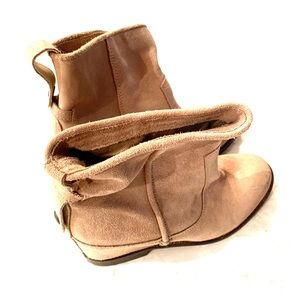 Suede Booties by Trafaluc